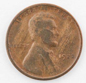 """1922 """"Plain"""" Lincoln Cent"""