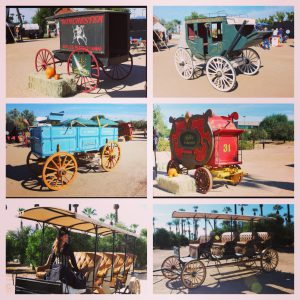 Some of the nearly 100 wagons & buggies that will be sold Nov 2014 - Feb 2015.